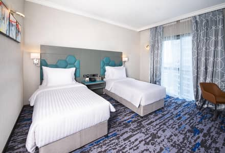 2 Bedroom Flat for Rent in Deira, Dubai - TWIN BED