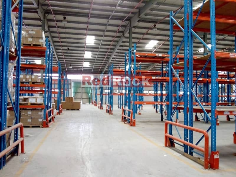 28000 Sqft Warehouse available with racking in Jebel Ali