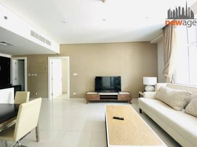 فلیٹ 1 غرفة نوم للايجار في الخليج التجاري، دبي - Fully Furnished One Bedroom For Rent In Cour Jardin Business Bay