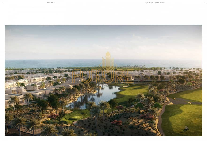 Villa in Yas Acres owns 3 rooms and a lounge directly from the developer
