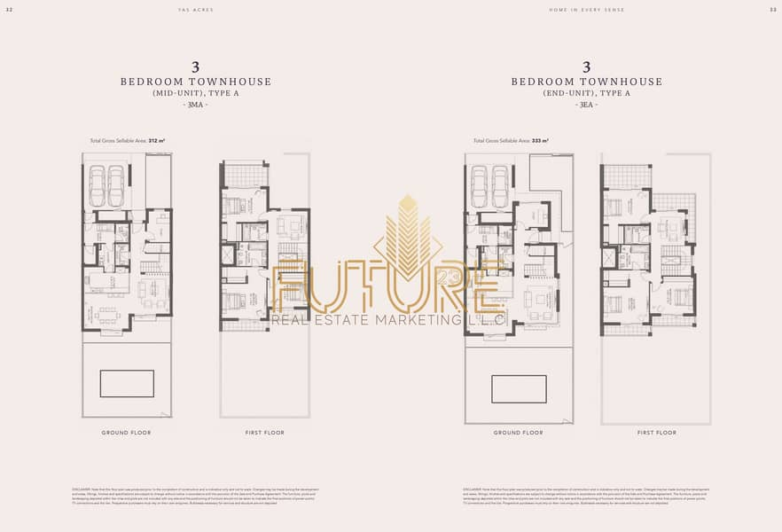 2 Villa in Yas Acres owns 3 rooms and a lounge directly from the developer