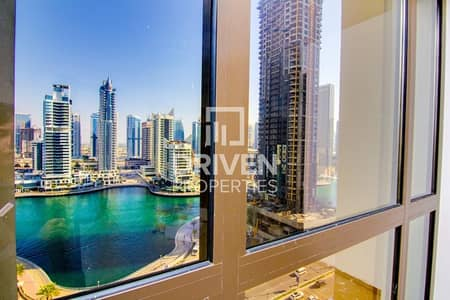 2 Bedroom Flat for Rent in Jumeirah Beach Residence (JBR), Dubai - Cozy 2 Bedroom Unit with Full Marina View