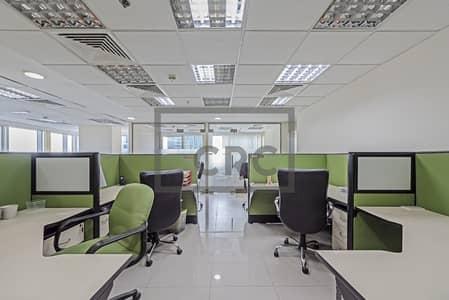 مکتب  للايجار في أبراج بحيرات الجميرا، دبي - Fitted & Furnished Office | High Floor |