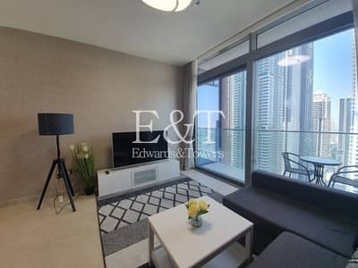 1 Bedroom Apartment for Rent in Dubai Marina, Dubai - Large Type | Nicely Furnished | Utility bills Included in the price