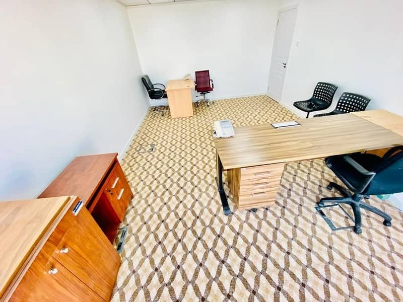 Big office space in business center for rent at muroor road