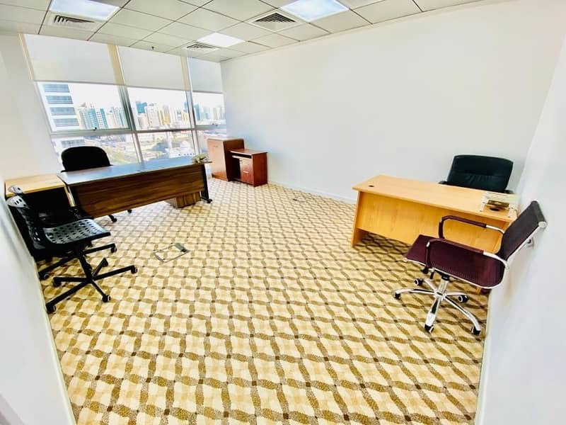 2 Big office space in business center for rent at muroor road