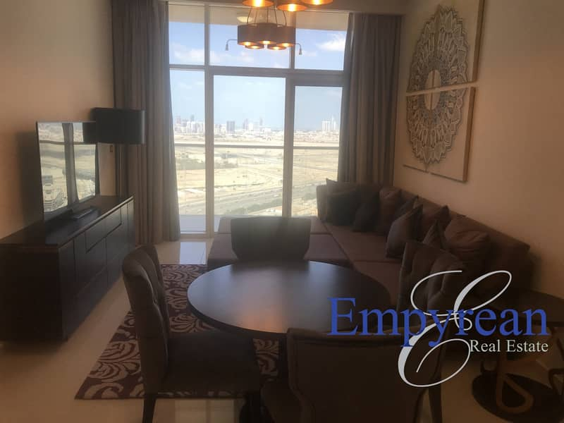VACANT CORNER 2BR| FULLY FURNISHED| BRAND NEW| TOP FLOOR | BEST VIEWS IN JVC |