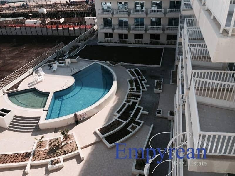 2 POOL VIEW|LARGE FURNISHED STUDIO| WITH BALCONY KENSINGTON MANOR