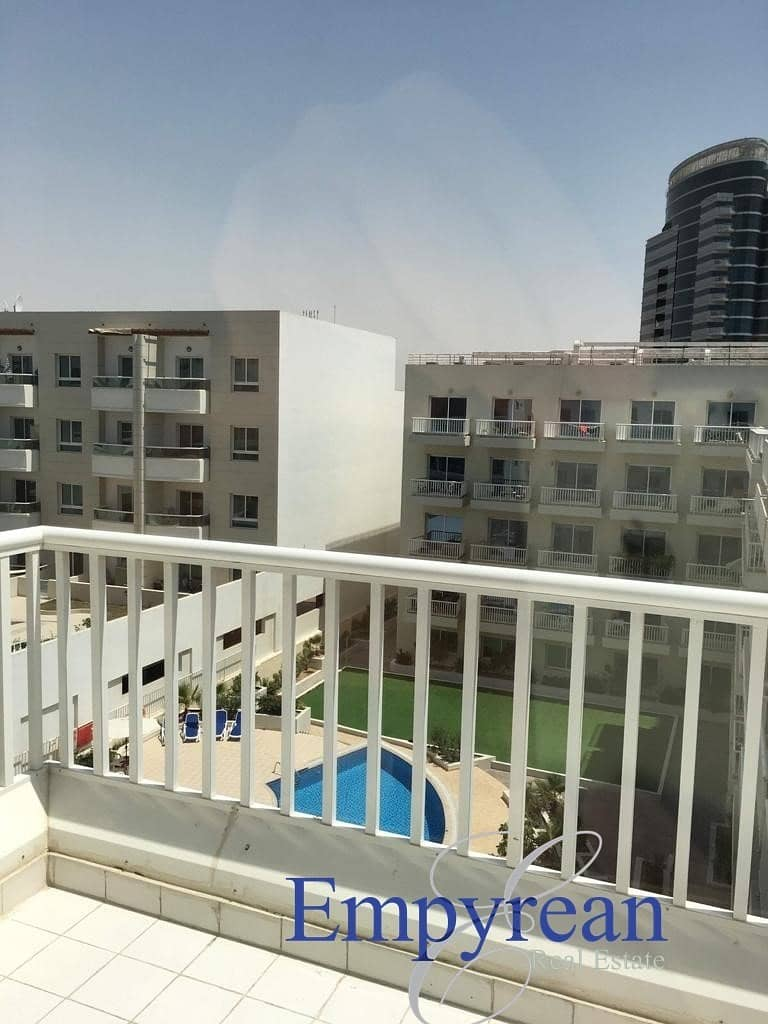 11 POOL VIEW LARGE FURNISHED STUDIO  WITH BALCONY KENSINGTON MANOR