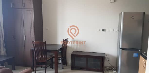 Studio for Rent in Dubai Sports City, Dubai - Fully Furnished Studio Higher Floor Partial Golf View