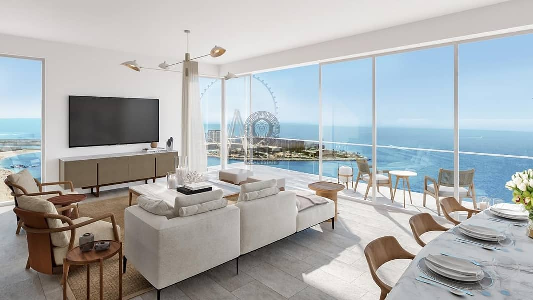 5 bedroom penthouse| Full Sea view | Direct beach acces