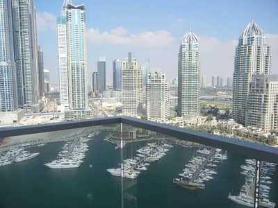 3 Bedroom Flat for Rent in Dubai Marina, Dubai - Full Marina View | 3 BR+M | A/C Free | Vacant Soon