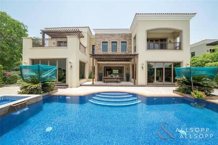 6 Bedroom Villa for Sale in Jumeirah Golf Estate, Dubai - Exclusive | Extended Taragona on Huge Plot