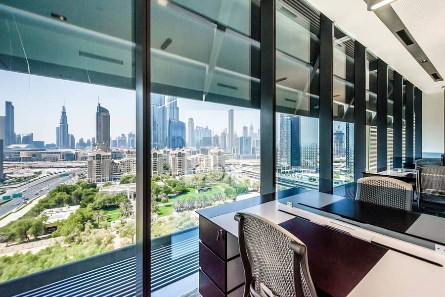 2 Furnished Fitted Office | Burj Khalifa View