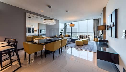 3 Bedroom Hotel Apartment for Rent in Sheikh Zayed Road, Dubai - Serviced 3BR | Panoramic Zabeel view
