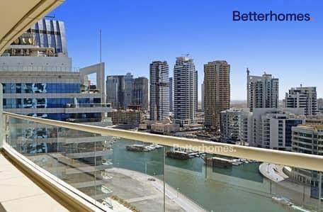 2 Bedroom Flat for Rent in Dubai Marina, Dubai - Marina View  High Floor |Unfurnished| Two Parkings