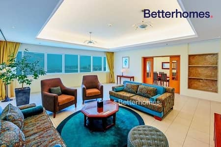 3 Bedroom Hotel Apartment for Rent in Dubai Marina, Dubai - Sea View|High Floor|Furnished|NonServiced|Serviced