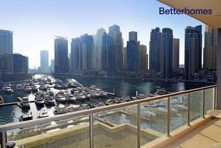 شقة 3 غرف نوم للبيع في دبي مارينا، دبي - VACANT IN JULY -LARGE BALCONY MARINA VIEW