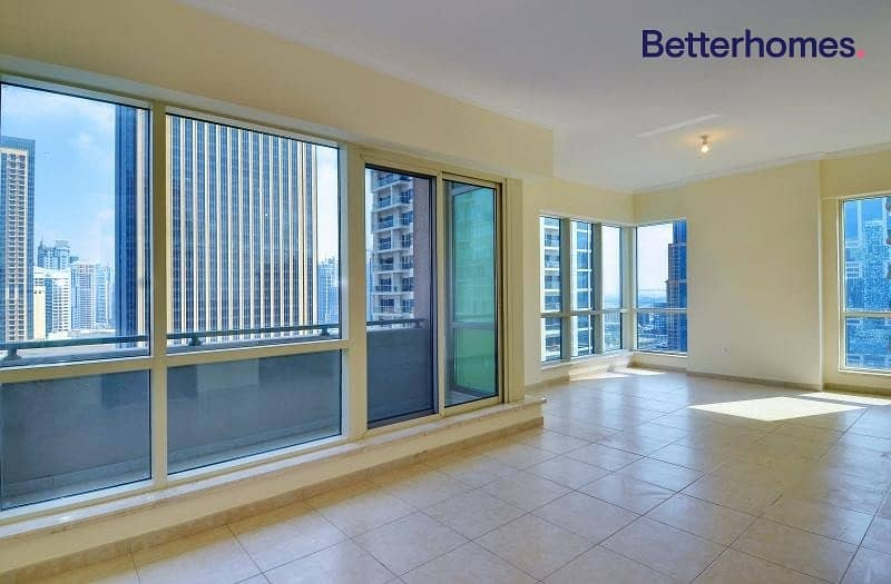 High Floor | Balcony | Partial Marina View| Rented