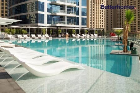 4 Bedroom Hotel Apartment for Rent in Dubai Marina, Dubai - Sea View|Mid-High Floor|Furnished/Serviced|Luxury