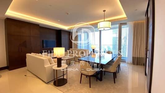 فلیٹ 3 غرف نوم للايجار في وسط مدينة دبي، دبي - Brand New Corner 3 Beds Full Burj Khalifa Sea View
