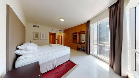 شقة 2 غرفة نوم للايجار في شارع الشيخ زايد، دبي - Semi-furnished   Serviced   12 payments