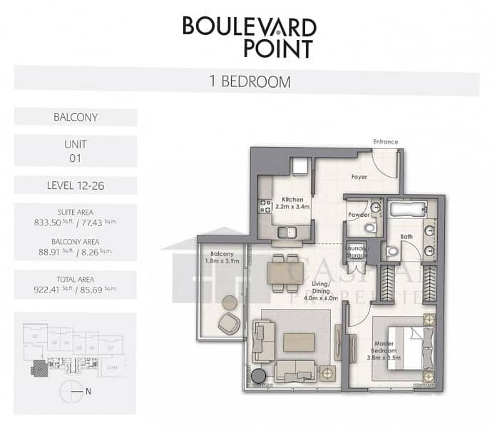 17 Exquisite Living Downtown with direct access to Dubai Mall
