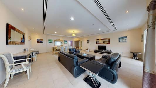 4 Bedroom Penthouse for Rent in Dubai Marina, Dubai - Furnished penthouse | Partial sea view | Pay rent online