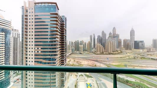 فلیٹ 2 غرفة نوم للايجار في أبراج بحيرات الجميرا، دبي - High floor apartment | Close to metro | Pay monthly