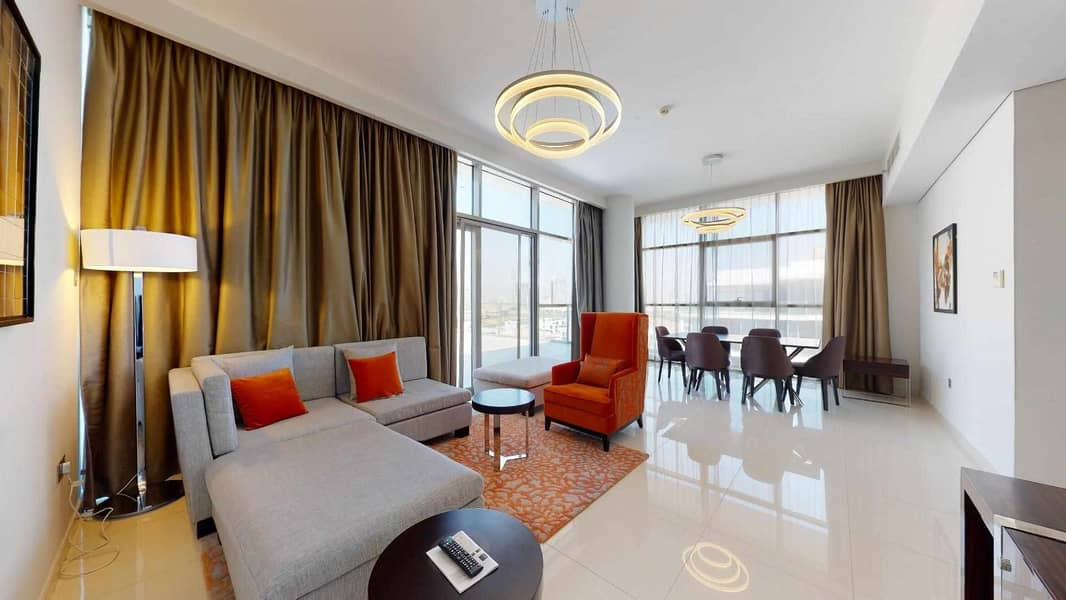 Spacious Terrace | Golf course view | 1-month free