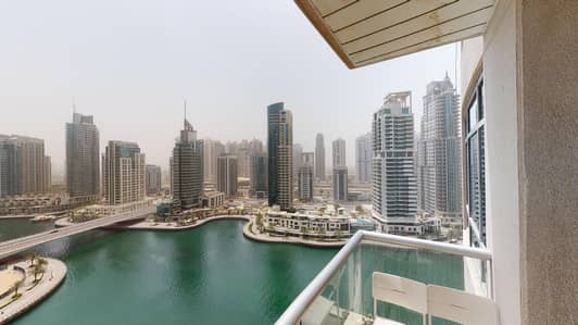 شقة 1 غرفة نوم للايجار في دبي مارينا، دبي - Furnished | Squash courts | Pay monthly