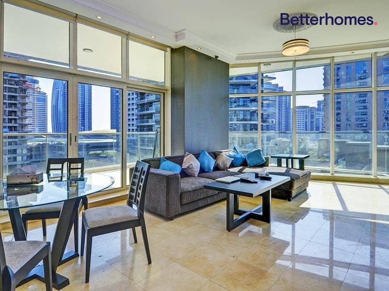 Furnished | Study | Maid's Room | Marina View | Balcony