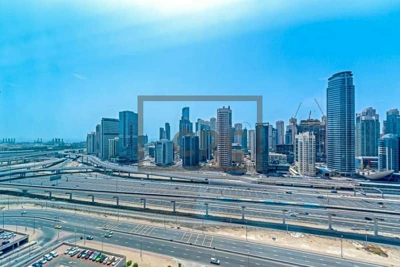 12 Fitted Office|SZR View|High-Floor|Near Metro (Unfurnished)