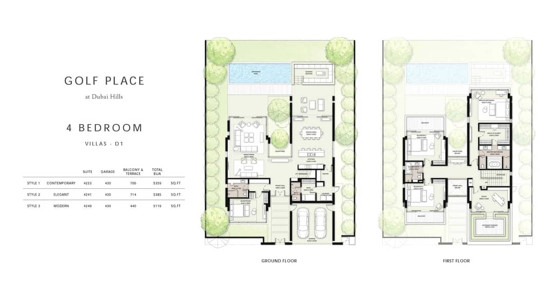 10 Corner Plot | Golf Place Resale | 4 Beds