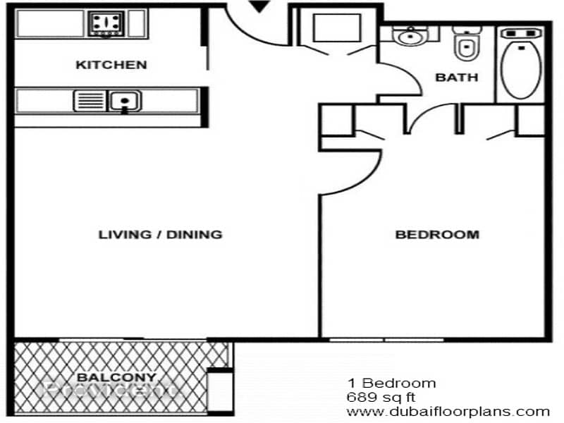 16 Lowest Price  High Floor 3B/R Furnished