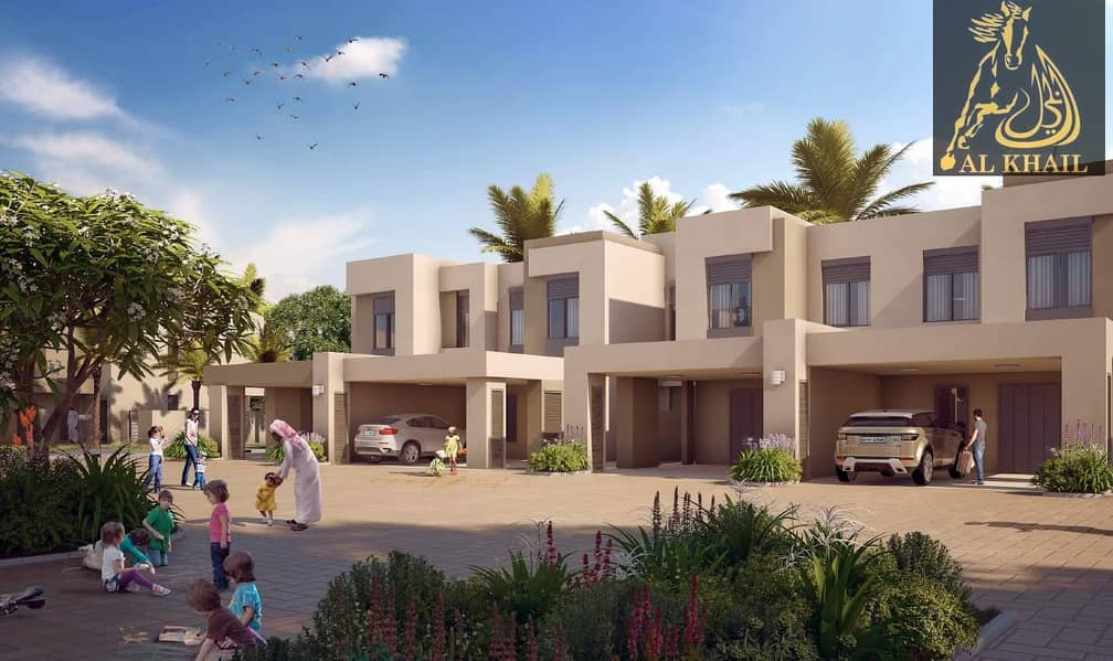 Glamorous Ready 3BR Townhouse for sale in Town Square Dubai Easy Payment Plan