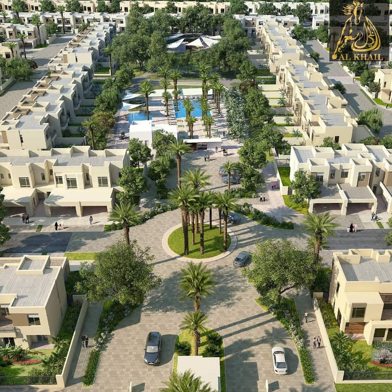 16 Glamorous Ready 3BR Townhouse for sale in Town Square Dubai Easy Payment Plan