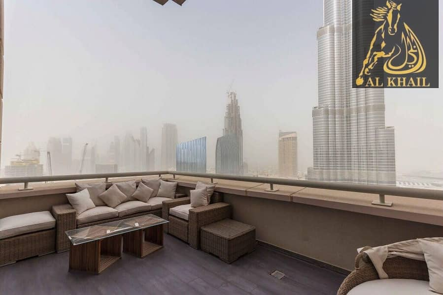 2 Furnished Alluring 3BR in Downtown Burj Khalifa View Prime Location