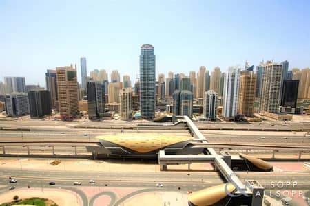 2 Bedroom Apartment for Rent in Jumeirah Lake Towers (JLT), Dubai - 2 Bedrooms | Next To Metro | 2 Balconies