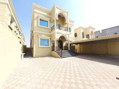 For rent villa in Ajman Al Mowaihat opposite a mosque on Sheikh Ammar Street new entrance and exit plain first inhabitant