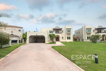 فیلا 5 غرف نوم للايجار في جزر جميرا، دبي - Lake View | Vacant | Master view Villa