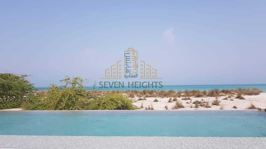 18 Land for sale in Abu Dhabi directly on the sea and installments for 8 years