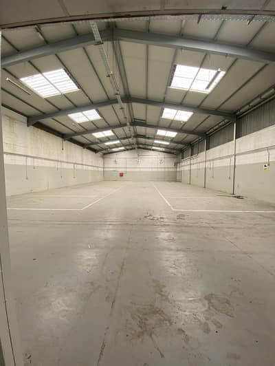 Warehouse for Rent in Industrial Area, Sharjah - big warehouse workshop on the main road