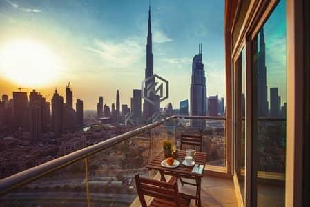 1 Bedroom Flat for Rent in Downtown Dubai, Dubai - 1 BR Burj Views C