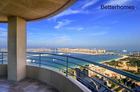فلیٹ 3 غرف نوم للايجار في دبي مارينا، دبي - Full Sea View | High Floor | Chiller Free