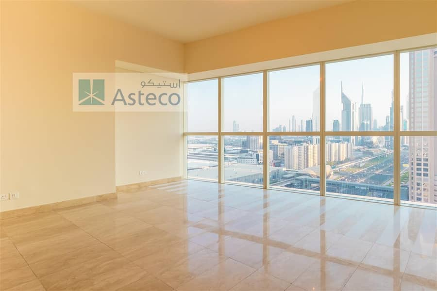 2 Great Offer 1 BR with full Sheikh Zayed Road view