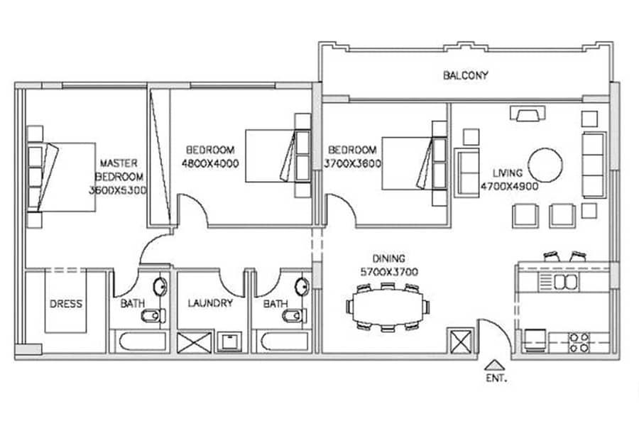 12 Upgraded Kitchen | Garden View | 3 Bed