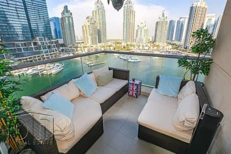 شقة 2 غرفة نوم للبيع في دبي مارينا، دبي - 2 Bed | Full Marina View | Rare Layout