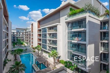 شقة 1 غرفة نوم للبيع في جميرا، دبي - One Bed Plus Laundry | Garden | Pool view