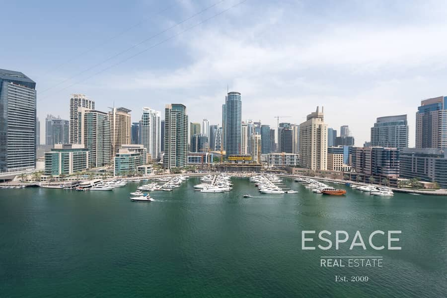 2 High Floor | Large 2 BR | Full Marina View